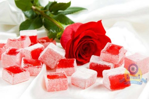 Лукум с ароматом розы классический